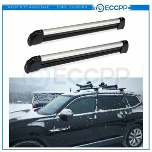 For Ramp King Roof Rack W Key Mount Fishing Rod 4 Ski 2 Snowboard Carrier Holder