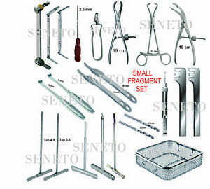 Orthopedic Surgical Instruments Small Fragment Set Of 25 Pcs German Steel
