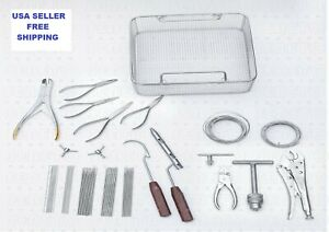 63 Pc Wiring Kirshner Orthopedic Instruments Set