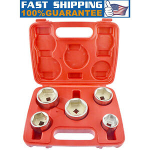 5pc 3 8 Inch Drive Oil Filter Remover Socket Set Universal Wrench Tool Kit Us Aa