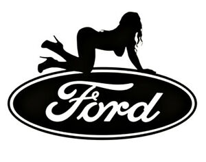 Ford Sexy Girl Car Truck Window Bumper Aftermarket Decal Sticker 15 Colors