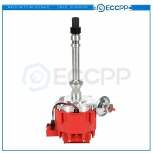 Distributor With 65k Coil Red Cap 7500rpm For Chevy V8 350 Sbc 454 Bbc Gm08 Hei