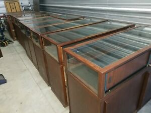 Display Case Store Retail Commercial Glass Showcase Jewelry 4ft Lockable Wood