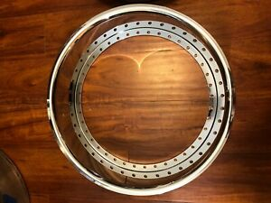 19x5 Reverse Outer Lip 40 Hole Chrome Rolled Edge Lip Brand New After Market