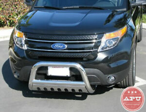 Apu 11 19 Ford Explorer Stainless Bull Bar Grille Bumper Brush Guard Open Box