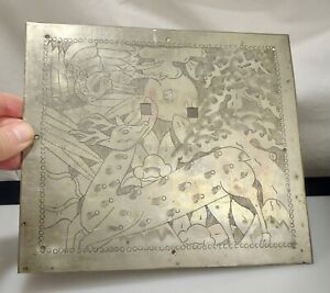Chinese Engraved Pewter Plaque For Chest 56475