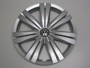 New Original Vw Hub Cap 5c0601147e 14 Spoke Cover Fits 16 Wheel Jetta 15 17