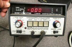 Sencore Lc53 Z Meter Capacitor inductor Indicator Analyzer Powers On As Is