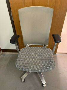 Knoll Life Task Chair Computer Chair Height Adjustable Arms Aluminum Base