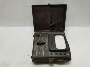 Nri Triplett Voltmeter Multimeter Model 45 With Excellent Case Circa 1948