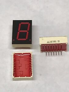 50x National Ln518ra Led Display 1 digit Red 0 8 7 segment Common Anode Dip 16