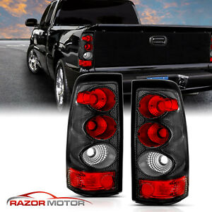 2003 2006 For Chevy Silverado 1500 2500 3500 Carbon Fiber Tail Lights Pair