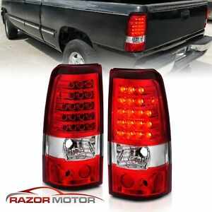 2003 2004 2005 2006 For Chevy Silverado 1500 2500 3500 Hd Led Red Tail Lights