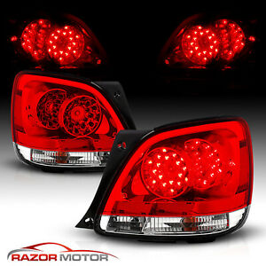 For 1998 2005 Lexus Gs300 Gs400 Gs430 Red Clear Led Rear Brake Tail Lights Set