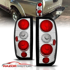 Fit 1998 1999 2000 2001 2002 2003 2004 Nissan Frontier Chrome Tail Lights Pair