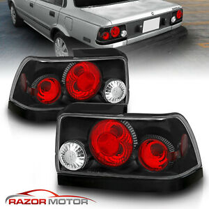 For 1993 1994 1995 1996 1997 Toyota Corolla Black Tail Lights Rear Lamps G2