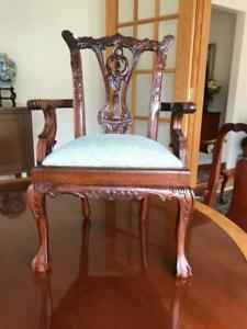 Chippendale Doll Size Mahogany Arm Chair