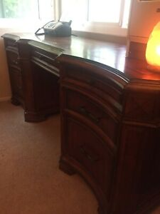 Aspenhome Executive Office Desk Built In Electrical Plugs Changes