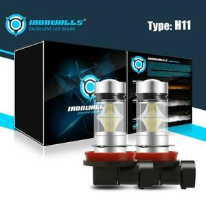 2x H11 H8 H9 Led Fog Light Conversion Kit Bulbs High Power 6000k 100w Headlight