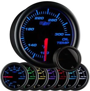 Glowshift 2 1 16 Tinted Electronic Oil Temp Gauge Meter 7 Color Led Gs T707
