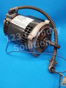 Double Stack Dryer Motor 1 4hp 1ph 60hz For Speed Queen P n 703375 01 Used