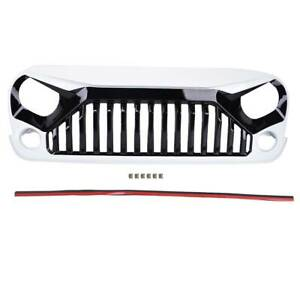 Front White Angry Bird Bumper Hood Grill Grille For Jeep 07 17 Wrangler Jk