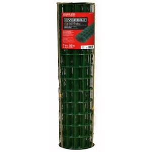 Everbilt Welded Mesh Wire Green Pvc Coated 3 Ft X 50 Ft Galvanized Lightweight