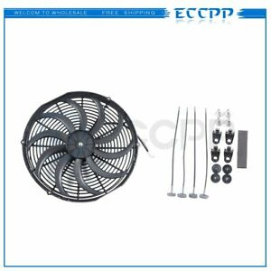 16 Inch Cooling Fan 12v Reversible Electric Plastic Universal Slim 3000cfm