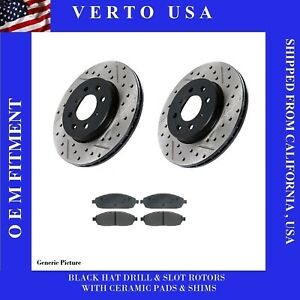 Front Brake Rotors Pads For Honda Accord 6 Cylinders 1998 1999 2000 2001 2002