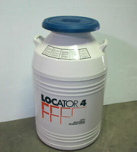 Thermolyne Locator 4 Cryo Biological Storage Liquid Nitrogen Tank Vessel