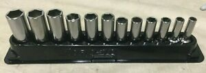 Snap on 12 Pc 3 8 Drive 6 point Metric Flank Drive Deep Socket Set 8 19mm