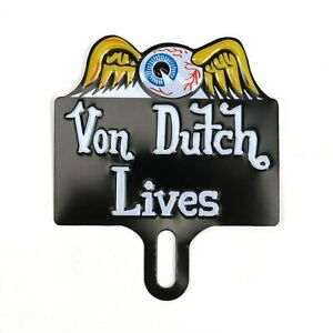 Flying Eye Ball License Plate Topper Metal Vintage Reproduction Advertising