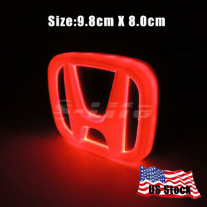 Car Led Tail Logo Badge Emblem Lights For Honda Accord Odyssey Civic Cold Red