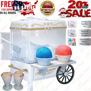 Commercial Cotton Snow Machine Maker Free Kids Party Carnival Home Syrup New