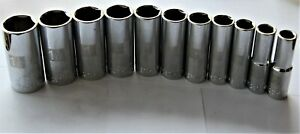 Craftsman 11 Pc 1 2 In Drive Sae Inch 6 Point Deep Laser Etch Socket Set