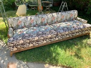 Mid Century Modern Pearsall Style Cane Long Sofa Couch