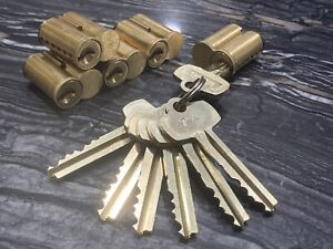 Lot Of 5 Best Sfic 6 pin Cores Keyed alike High Security W 5 Keys And Control
