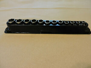 Snap On 12 Pc 3 8 Metric Shallow Socket Set 6 Point 8mm 19mm
