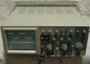 Elenco S 1325 Oscilloscope 25 Mhz dual Trace with Probe works looks Xlnt