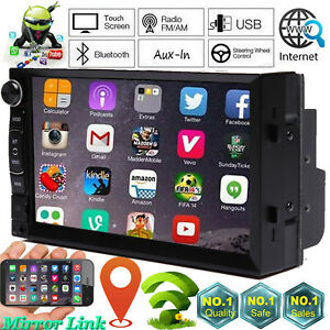 Fit Dodge Ram 1500 2500 3500 Car Stereo 2 Din Android Radio Gps Wifi Mirror Link