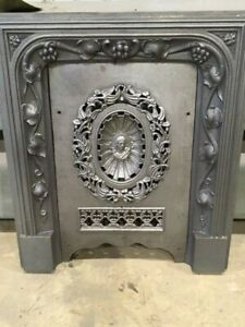 Vintage Cast Iron Fireplace Surround With Cast Iron Cover