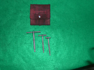 Starrett 229 3 Piece Telescopic Gage Complete Set In Leather Case
