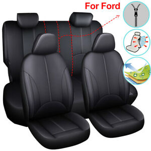 Universal Leather Car Seat Cover Set Seat Protector Fit For Ford Escape Edge