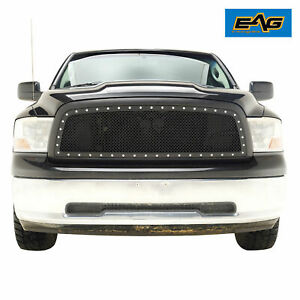 Eag Mesh Main Mesh Grille Upper Grill Fit For 2009 2012 Dodge Ram 1500