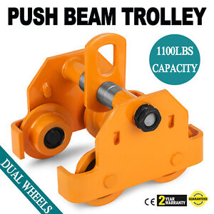 Brand New 1 2 Ton Push Beam Trolley Fits Straight Or Curved I beams