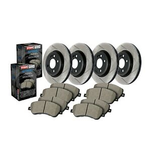 Stoptech Disc Brake Pad And Rotor Kit Front Rear For A3 Jetta Eos Beetle