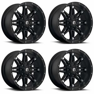 4x Fuel 22 Hostage D531 Wheels Matte Black 22x11 6x135 Pcd 24mm Offset 5 00 Bs