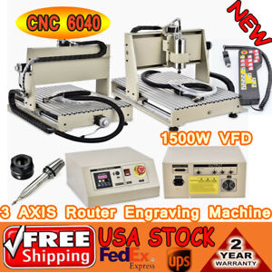 3axis Cnc 6040 Router Engraver Engraving Drilling Milling Machine Vfd controller