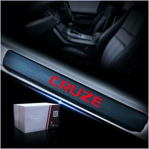 Red For Cruze Sticker Car Door Sill Scuff Pedal Protect Carbon Fiber Stickers