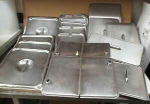 Mixed Assortment Of Steam Table Tray Lids lot Of 15